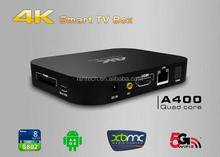 google android 4.4 tv box quad core XBMC ultre 4K arabic channels smart tv box support webcam with skype internet TV box