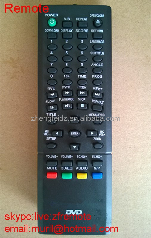 New ABS Mini Thin Small Black 49 Keys SINGSUNG DVD REMOTE CONTROL with PE bag package TV Use dvd universal remote control codes