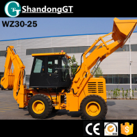 mini tractor backhoe loader WZ30-25 Backhoe Loader with 1 cub meter construction machine