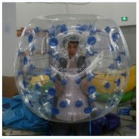Crazy jump inflatable soccer bubble ball for sale