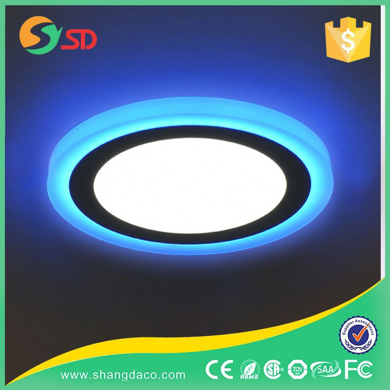 Shangda Produced 110V dimmable Super Flat Glass 9 watt 12v led panel 10w round
