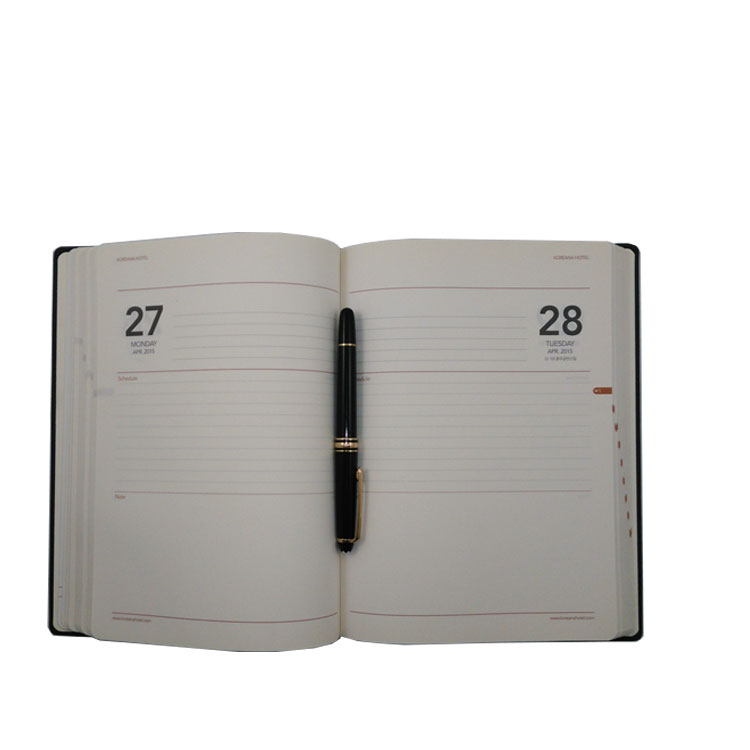 Factory custom organizer planner notebook diary with pen and calculator