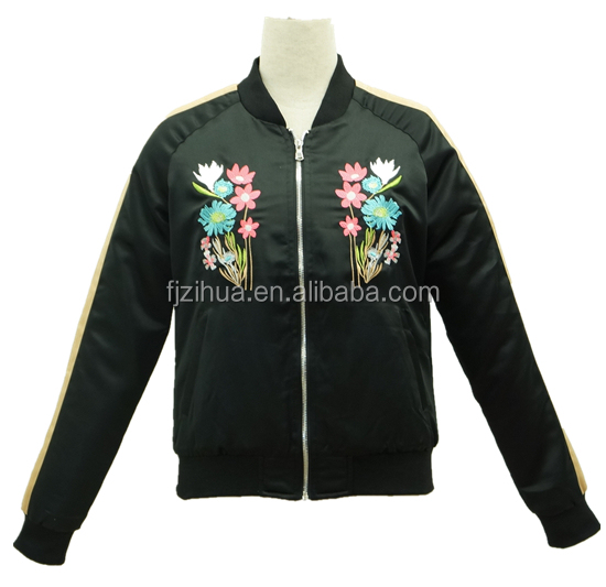 2017 New Design Autumn Embroidered Casual Women Jackets