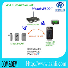 New Home Automation Smart Wifi Socket , Android/iOS Cloud Smartphone Remote Control Wifi Socket Wifi Control Power Switch