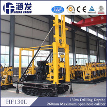 HF130L hydraulic crawer mounted drilling rig machine for home use water well