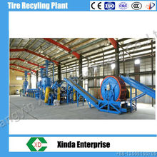 Xinda 2014 waste tyre recycling plant rubber powder production