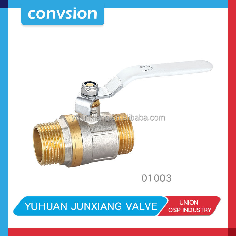 free sample long handle brass ball valve with red aluminum handle DN15 DN20 bronze ball valve