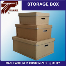 Hight quality brown Fordable Metal edging collapsible storage box with lid