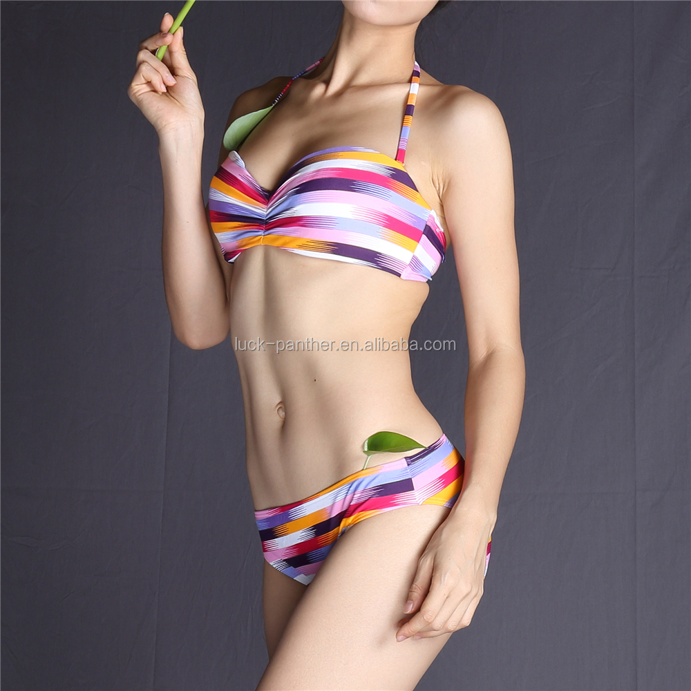 2017 new arrival high quality swimwear womens custom swimwear packaging bikini