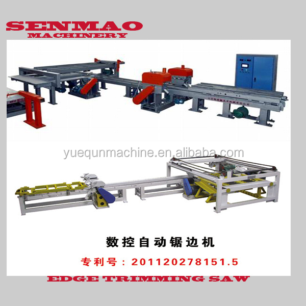 senmao-4*8Feet Veneer plywood Double side cut saw machine/plywood double saw