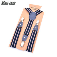Elastic pu material y shape kids gallus suspenders loops china