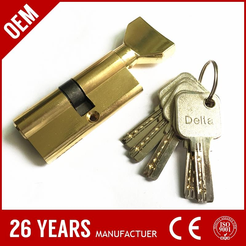 own factory price zinc alloy single row zinc lock components with nickel brush color