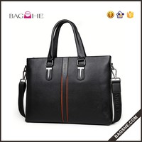 cheap price fashion mens large leather shoulder briefcase