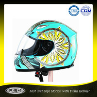 ECE Approved blue full face motorcycle Helmet supplier