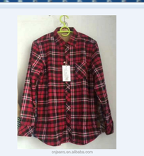 GZY velvet shirts warm shirts Men's plus plaid shirt stock lot cheap