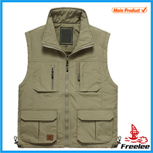 2015 Cameraman Photographer Vest, Multi Pocket Vest Nylon Cotton