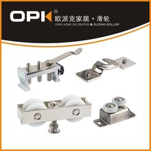 OPK Top Hung Running Gear 2 Wheels Sliding Door Double Roller and Stopper with Adjustable Retention Spring