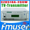 CZH6518A-200W Single-channel Analog TV Transmitter UHF 13-48 Channel uhf vhf tv transmitter