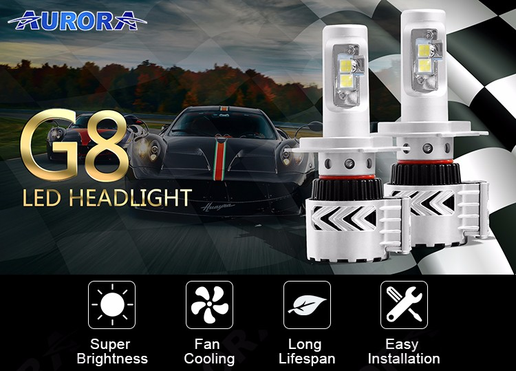 led headlight h8 6000lm auto led headlight