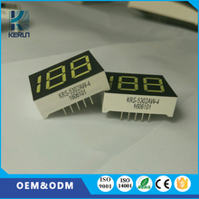 New product customized 188 10 pins 0.5 inch digital wall clock led white display