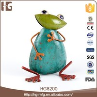 Hot sell blue frog shaped wrought iron wall art