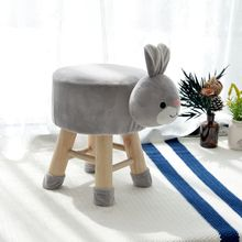 Living room kids seat foot stool children soft dressing wood stool indoor mini <strong>furniture</strong> Lovely baby cute <strong>furniture</strong>
