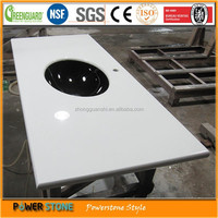 Chinese New Style Nanoglass Vanity Top for Bathroom