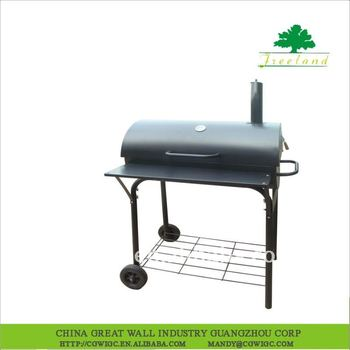 charcoal smoker bbq grill with wheels