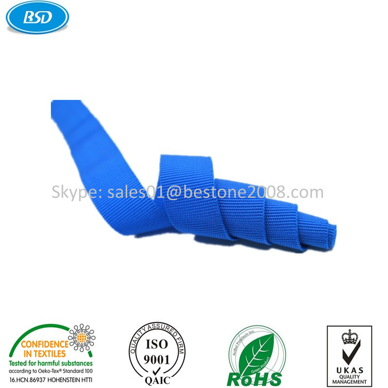 BSD manufacturer of seat belt webbing wholesale use for garments/shoes/medical/sports webbing