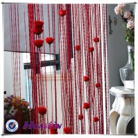 2016 fashion design 100% polyester string curtain