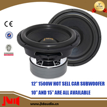 Hot Sell In UAS JLDAudio 12 Inch 1500W RMS DC 12V Voltage Subwoofer