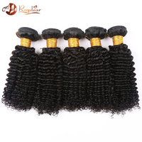 8A grde cheap brazilian hair weave,unprocessed Curly Wave Virgin human Hair weave
