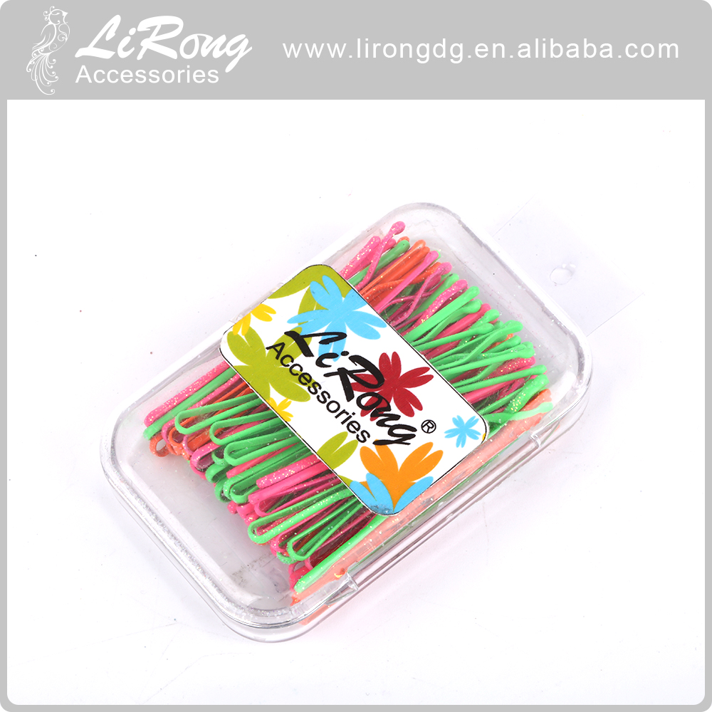 Excellent quality hair grips bobby pin With plastic box