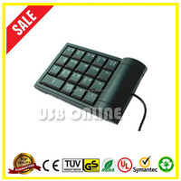 Alibaba China Price 19 keys black USB Mini numeric keyboard