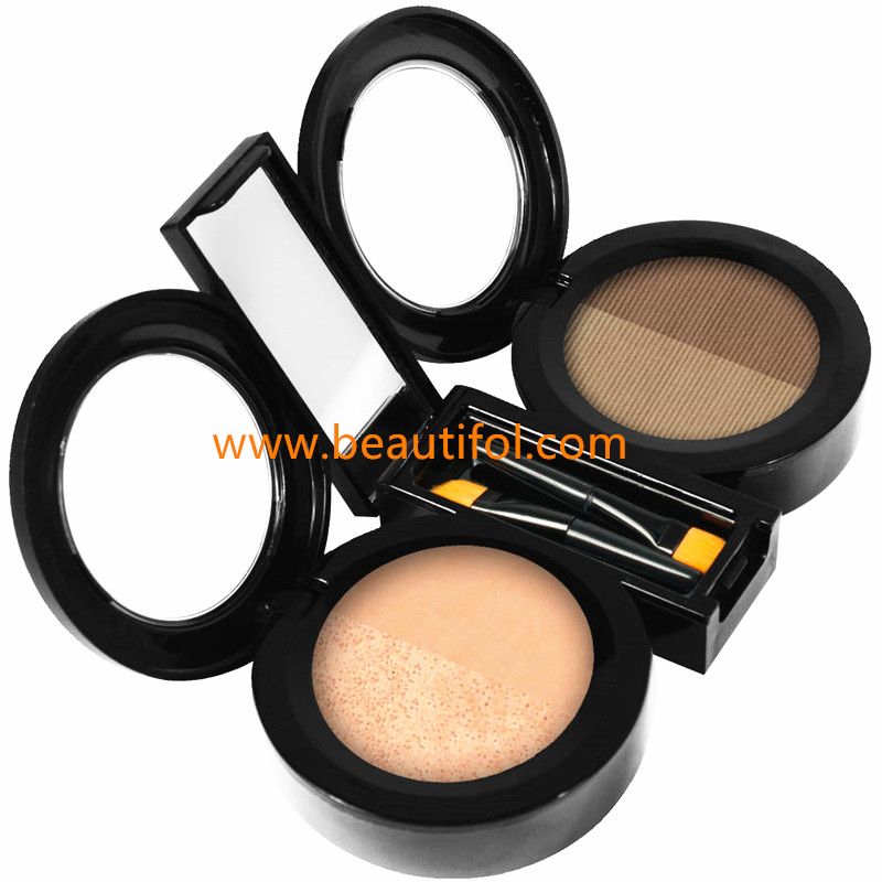 Make your own brand eyebrow powder, highlight brow powder, waterproof custom best eyebrow contour