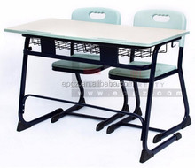 Modern Education Furniture Student Desk School Bench with Two Seater
