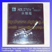 paper mate gel pens,HOLSTEN GERMANY Metal pipe for leather marking Silver refill pen