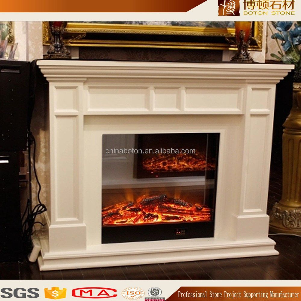 Popular Indoor Natural Marble Fireplace Granite Mantel