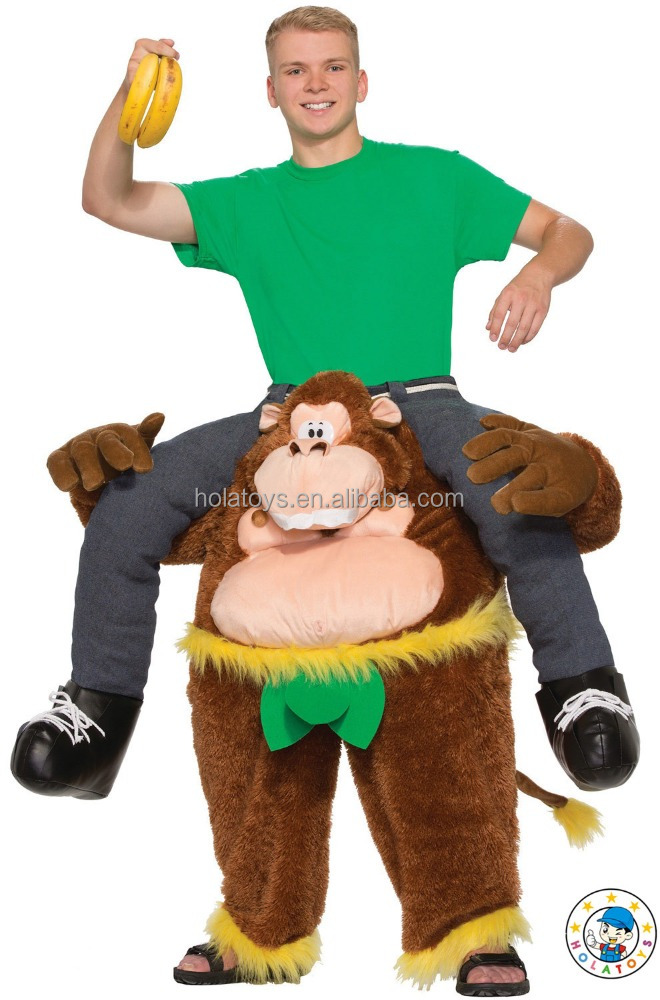 2015 riding animal costume/funny monkey mascot costume for adult