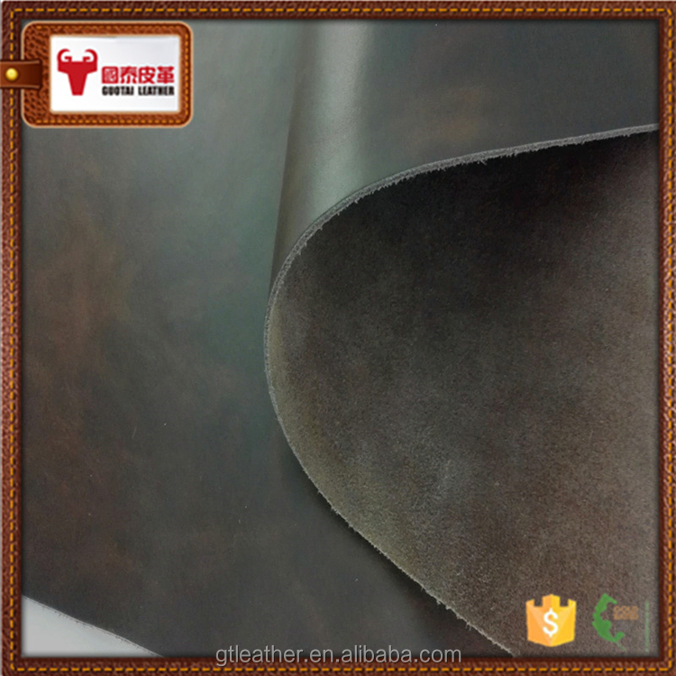 Genuine cow action finished bovine leather hides for sale
