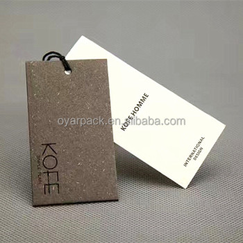 brand logo garment hang tag with plastic string