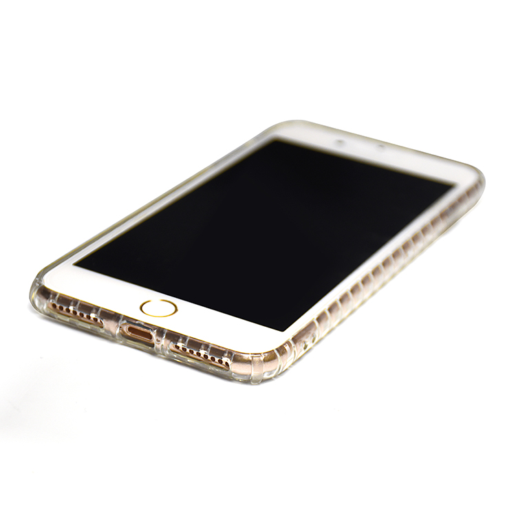 High Impact clear electroplating tpu phone case for iphone 8 plus