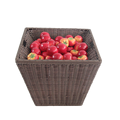 Plastic woven snack display stands/rattan vegetable storage rack with basket
