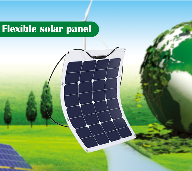 hot sell sunpower 50W 100W 200W semi flexible solar panel with best price