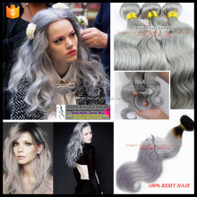 Ali Trade Assurance Paypal Accepted Cuticles Remy Human Hair No Shedding Tangle Free Factory Price gray bulk hair for braiding