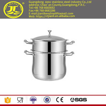 Useful cookware steamer pot Stainless stainless sauce pot with laser polish two layer
