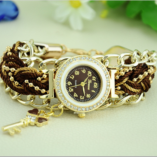 2015 New Design Mori Girl Style Women Watch High Quality Casual Watches Simple Ladies Quartz Weave Strap Wristwatch Dress Watch