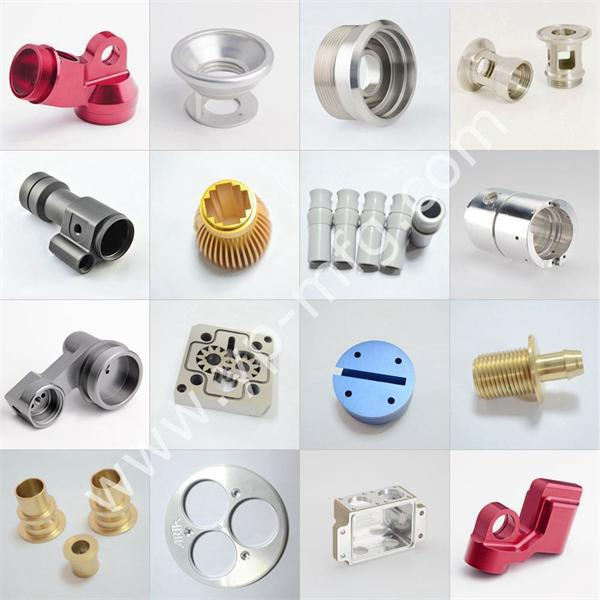 custom Anodized cnc machining aluminum mechanical spare parts