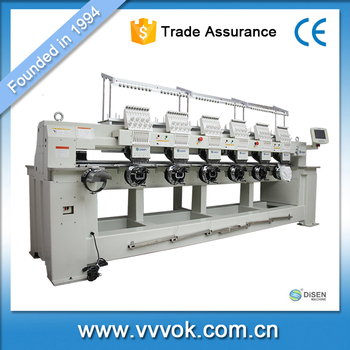High speed 6 head embroidery machine chain stitch