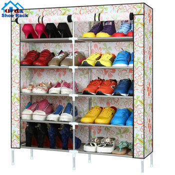 36 pair hanging wall storage foldable metal shoe rack